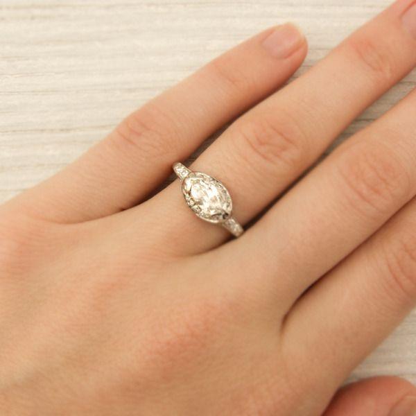 75 Carat Vintage Marquise Diamond Engagement Ring