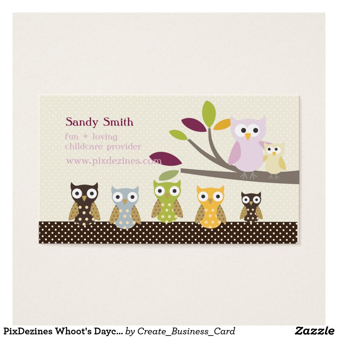 PixDezines Whoot\'s Daycare Business Card ****** FIND UNDER CHILD ...