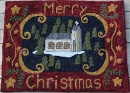 Image Result For Christmas Hooked Rugs