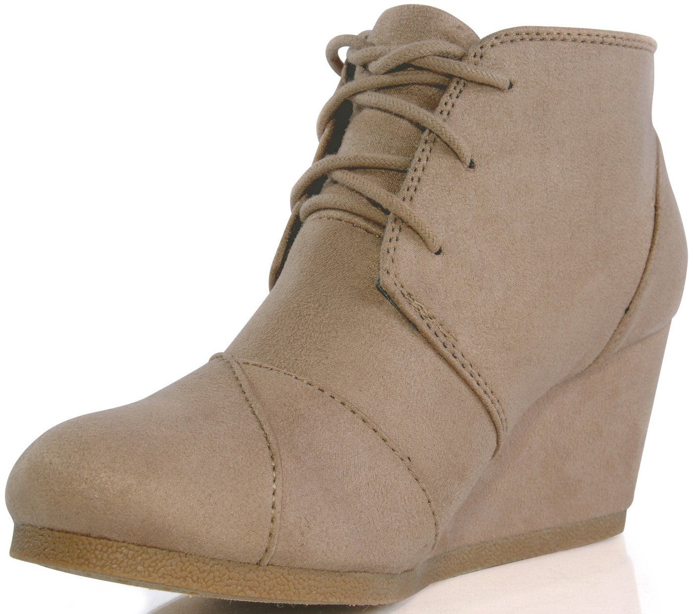 Marco Republic Galaxy Womens Wedge Boots - (Charcoal) - 5.5