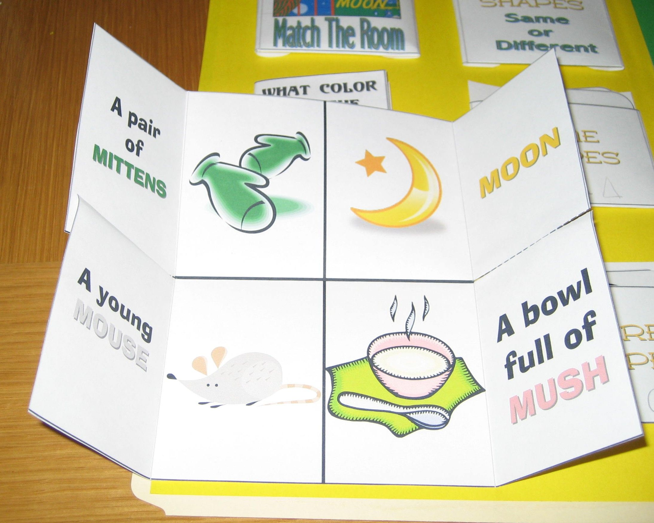 Interactive Handmade Lap Book With Simple Tasks Such As Identifying Colors And Shapes And