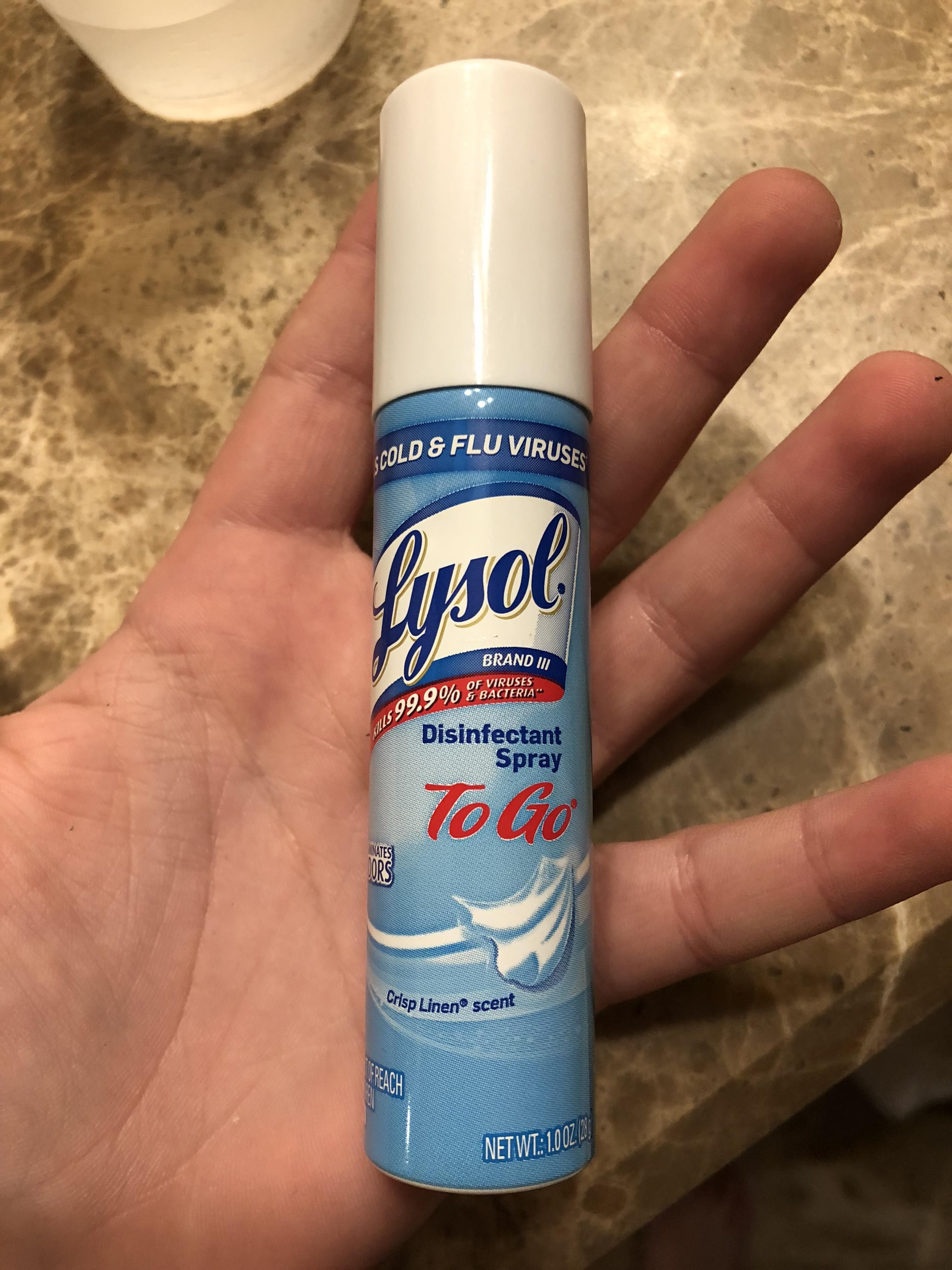 My Mom Has This Mini Lysol Can Disinfectant Spray Lysol Vodka Bottle