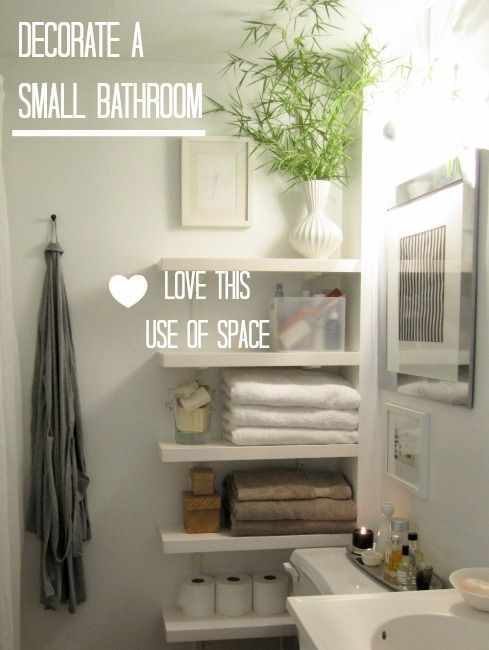 How To Decorate A Small Downstairs Toilet   Love Chic Living Floating  Shelves Create Space In The Narrow Area By Toilet (just Remember There Are  Lots Of ...