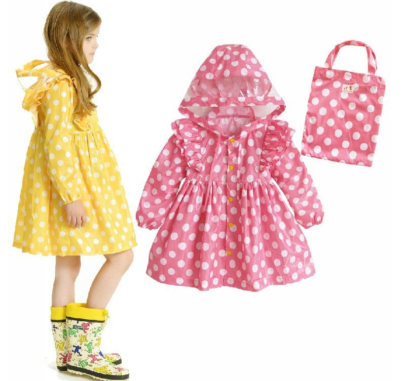 Girls Raincoat Lovely Kids Free Shipping-in Raincoats from Home & Garden on Aliexpress.com