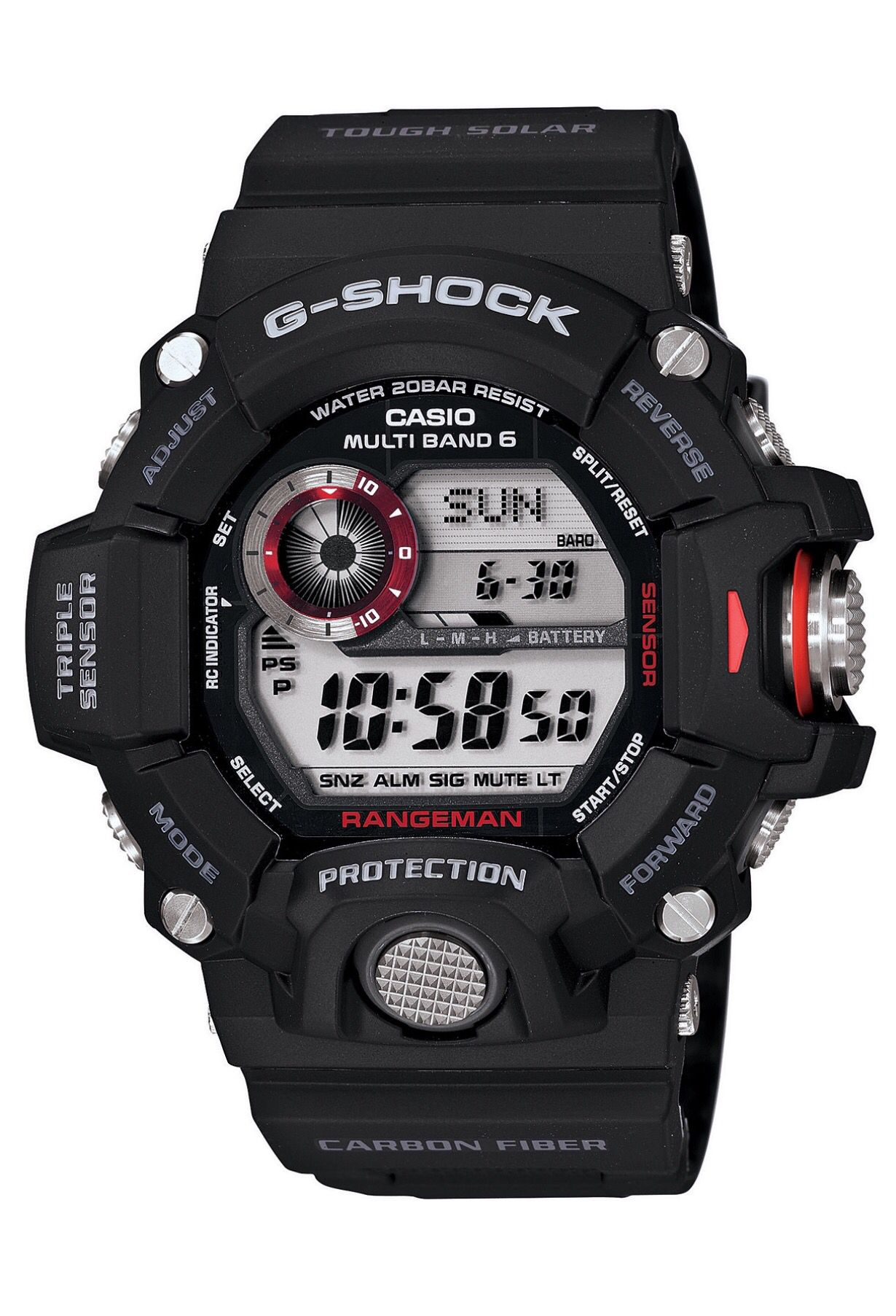 Hands down my favorite rugged wear timepiece. The G-Shock Rangeman ... 5ef31e7541