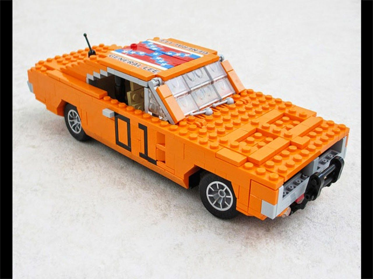 custom built lego General Lee Dodge Charger INSTRUCTIONS ONLY
