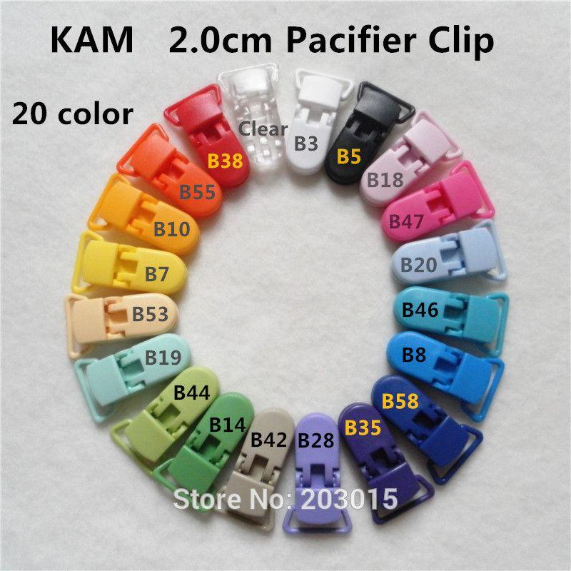 (20 color ) 5pcs 2.0cm KAM plastic Baby Dummy Pacifier ...