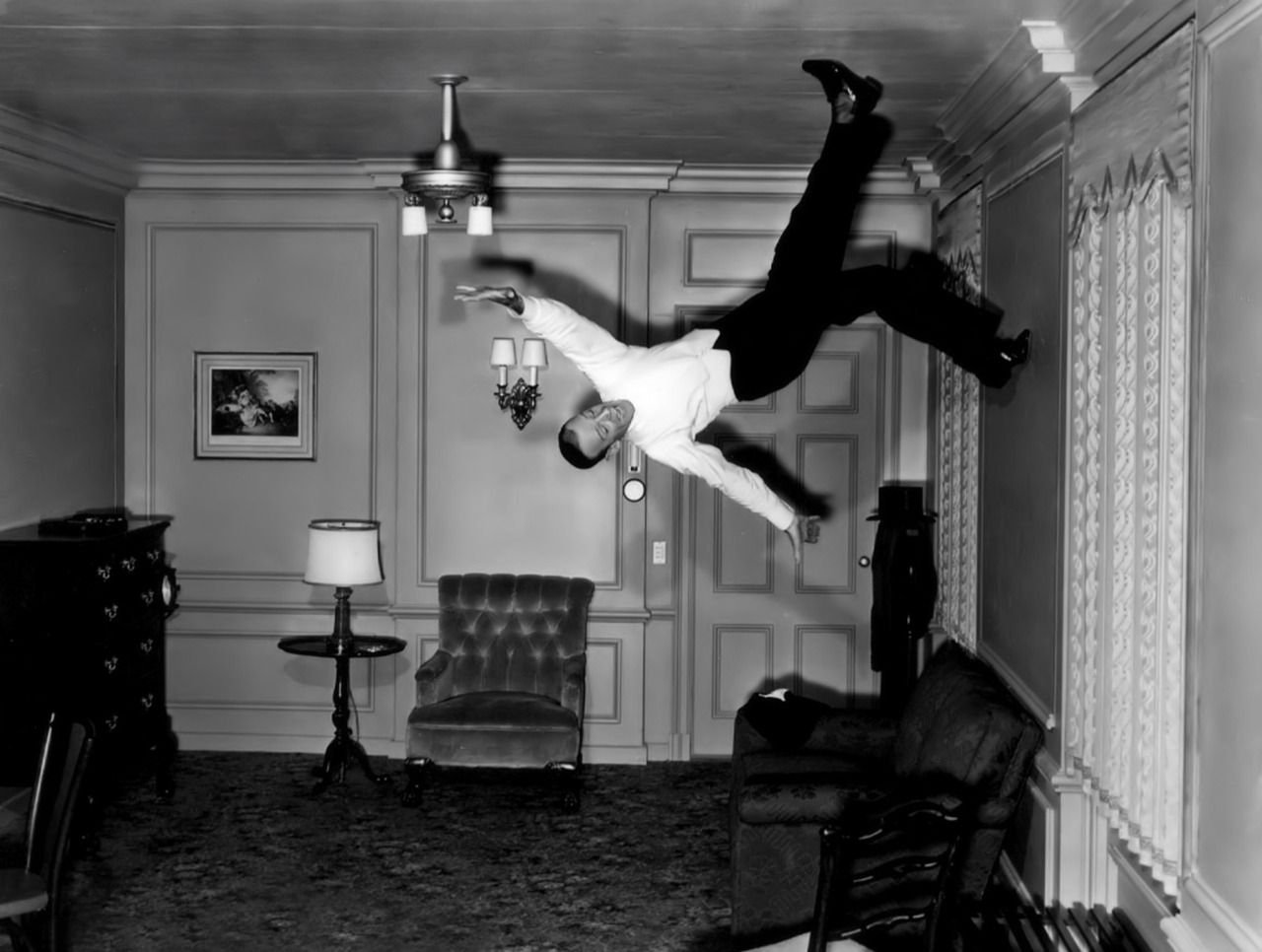 Fred Astaire Ceiling Dance Scene From  Movie Royal Wedding