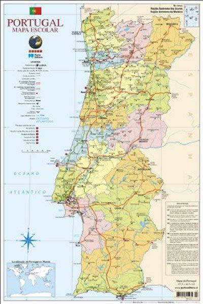 mapa escolar portugal Resultado de imagem para imagens mapa portugal   junior   Pinterest mapa escolar portugal