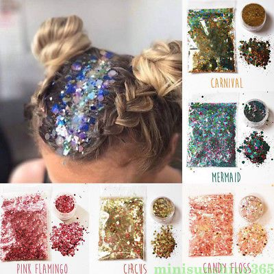 Mixed Sequin Powder Nail Face Eye Shadow Hair Glitter Decoration Halloween Party #crazyhairday
