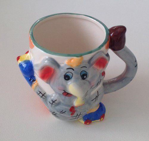 Becher Kinder Tasse mit Henkel lustige Zoo Kindergeschirr Löwe