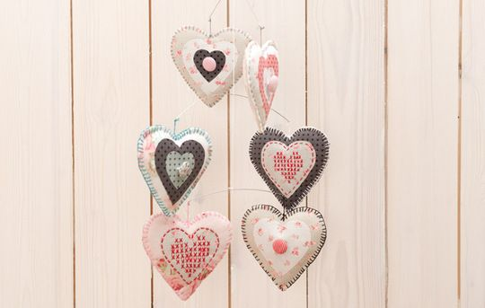 Rico Design - Heart- free tut, template and pattern for embroidery as well!