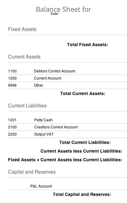 Balance Sheet Example  Accounting    Balance Sheet