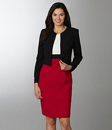 Bold color makes this Kasper women&39s jacket dress a smart choice