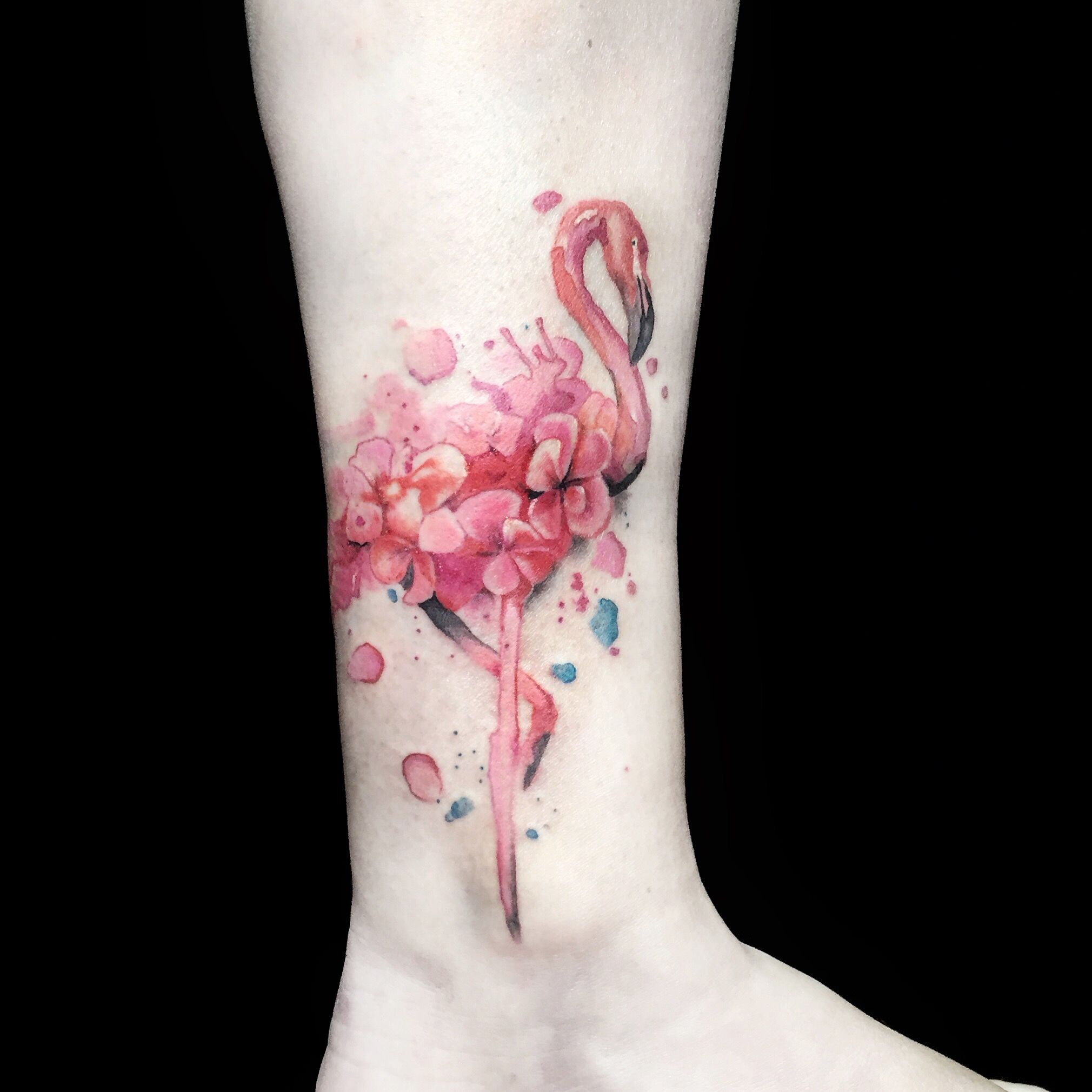 Watercolor flamingo tattoo | Tattoo Designs | Pinterest