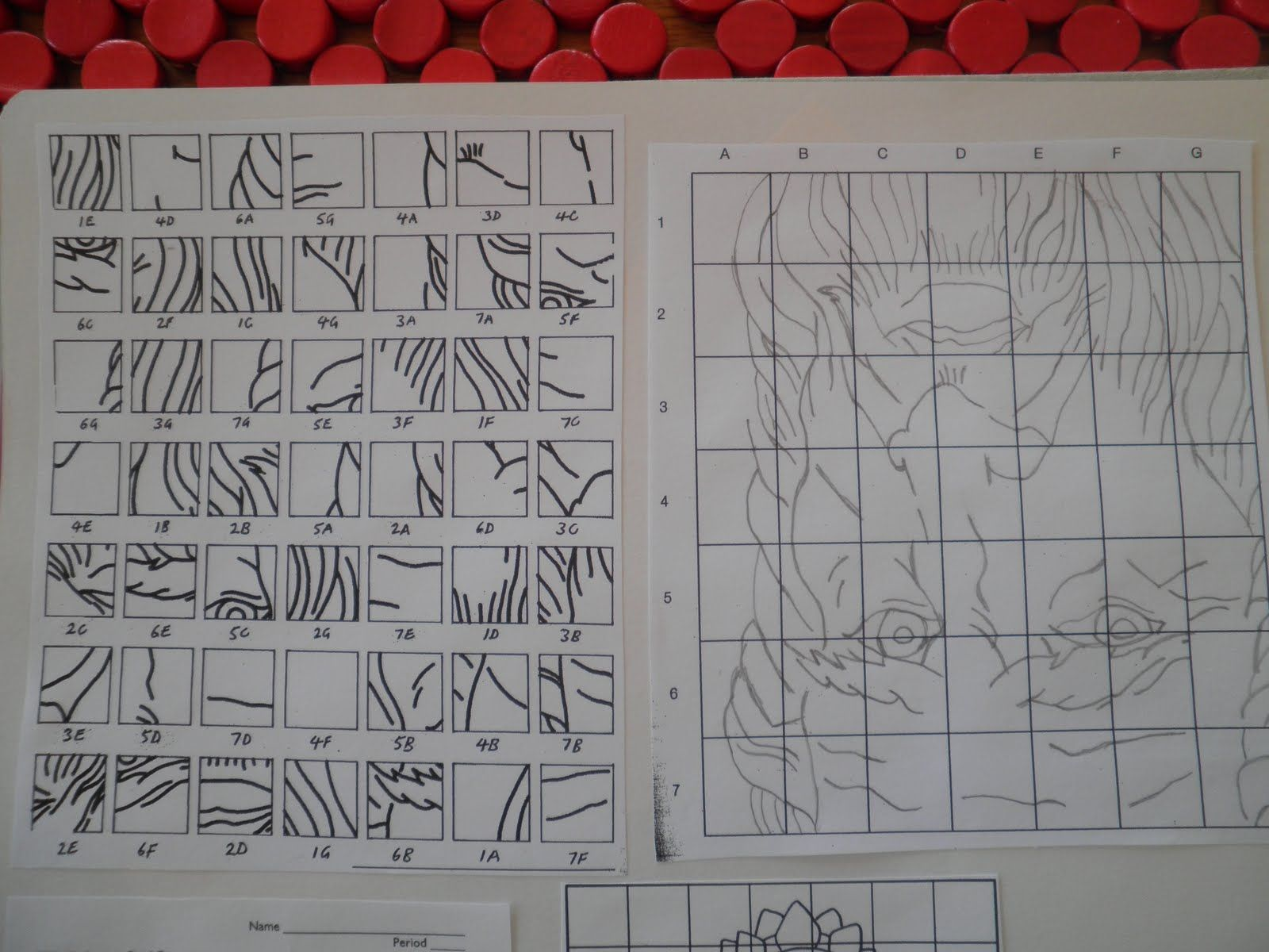 Teaching Art Grid Drawing I Have Done The Upside Down