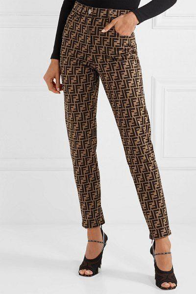 Fendi cottonblend jacquard skinny pants