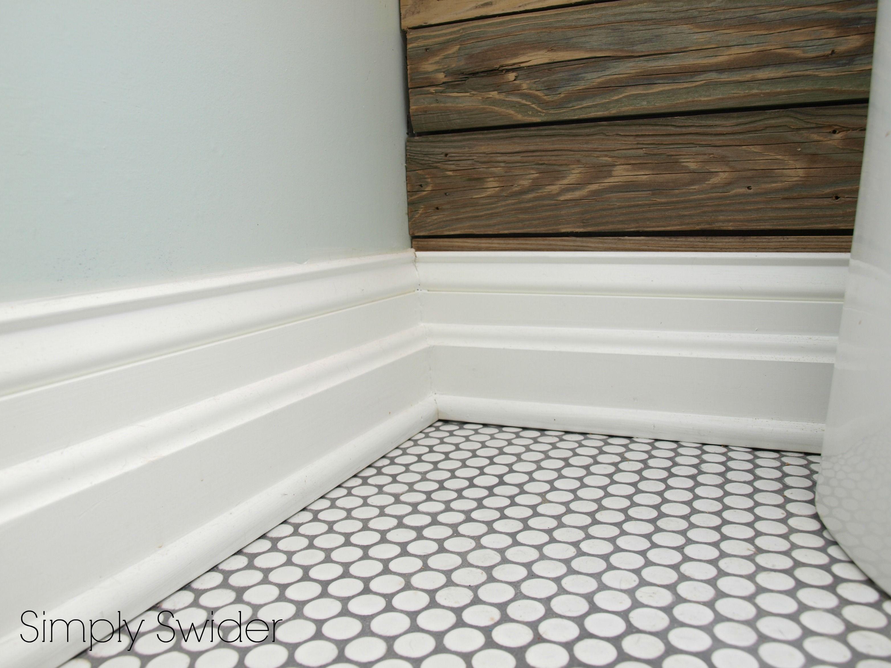 Gray Penny Tile Bathroom Floor Tiles Flooring Gray Tile Bathroom