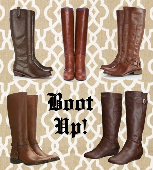 Brown Riding Boots would go great with #ReitmansJeans