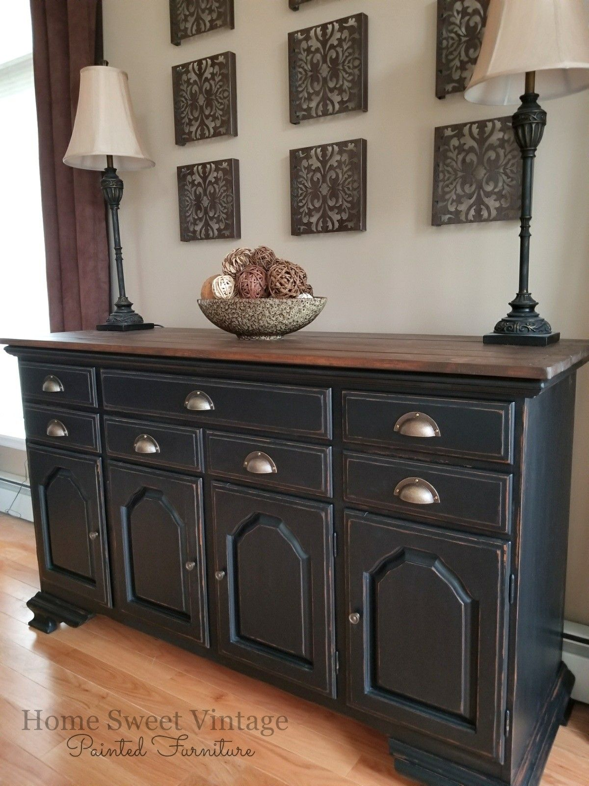 Vintage Farmhouse Buffet Finished In All General Finishes