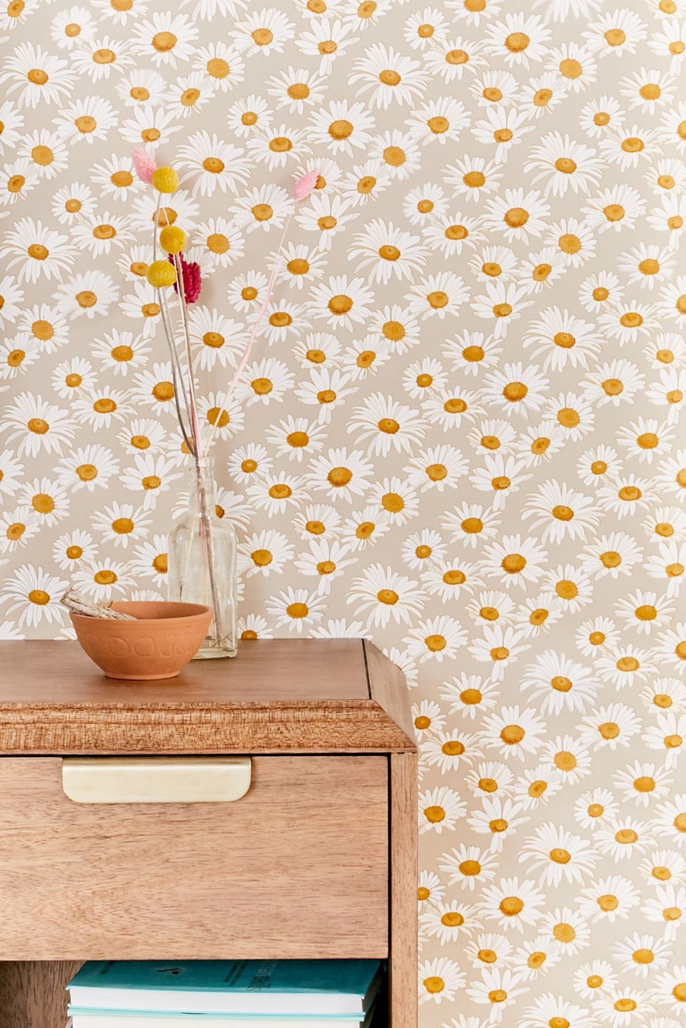 Daisies Removable Wallpaper Urban Outfitters Stick On Wallpaper Removable Wallpaper Daisy Wallpaper