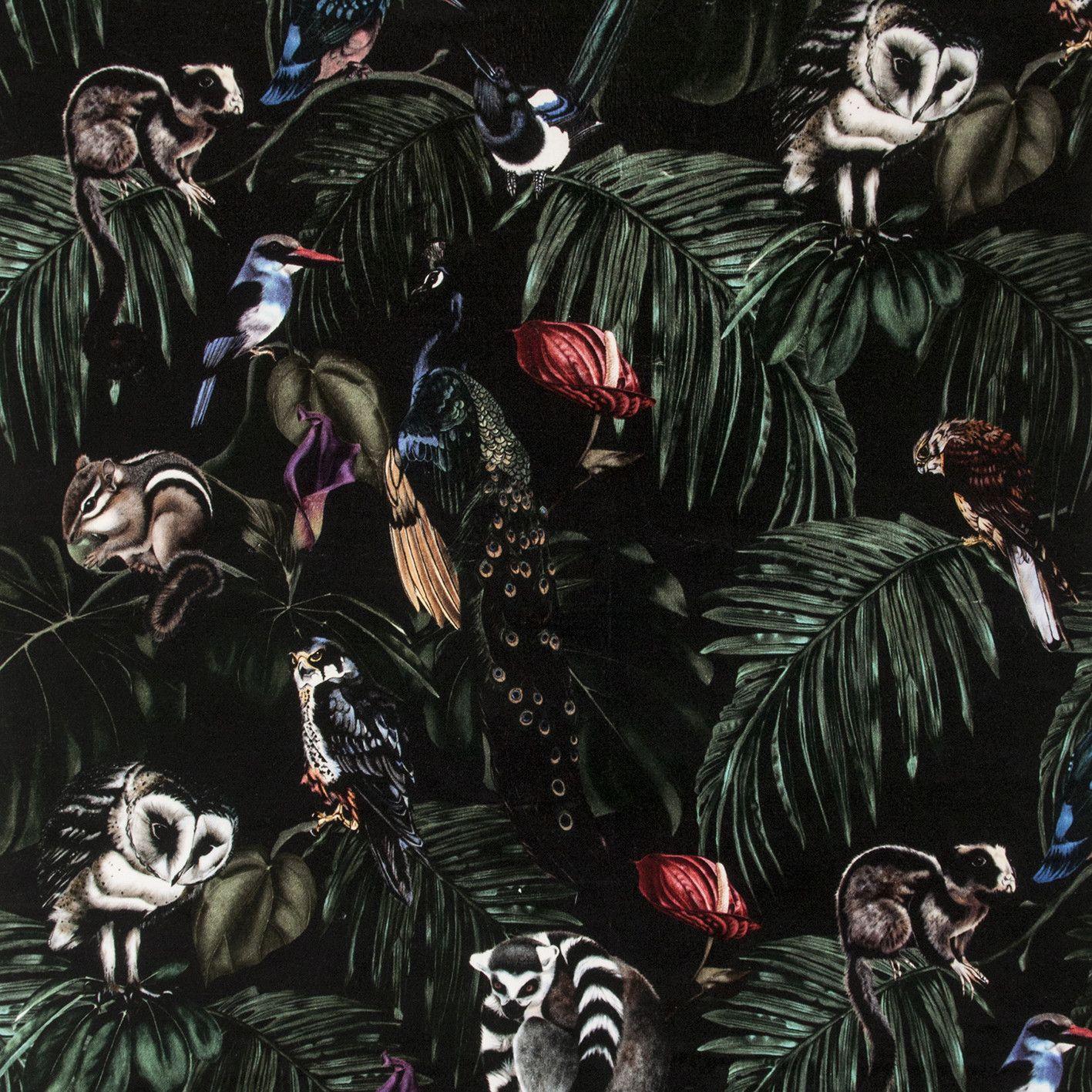 Amazonia Dark Velvet Fabric