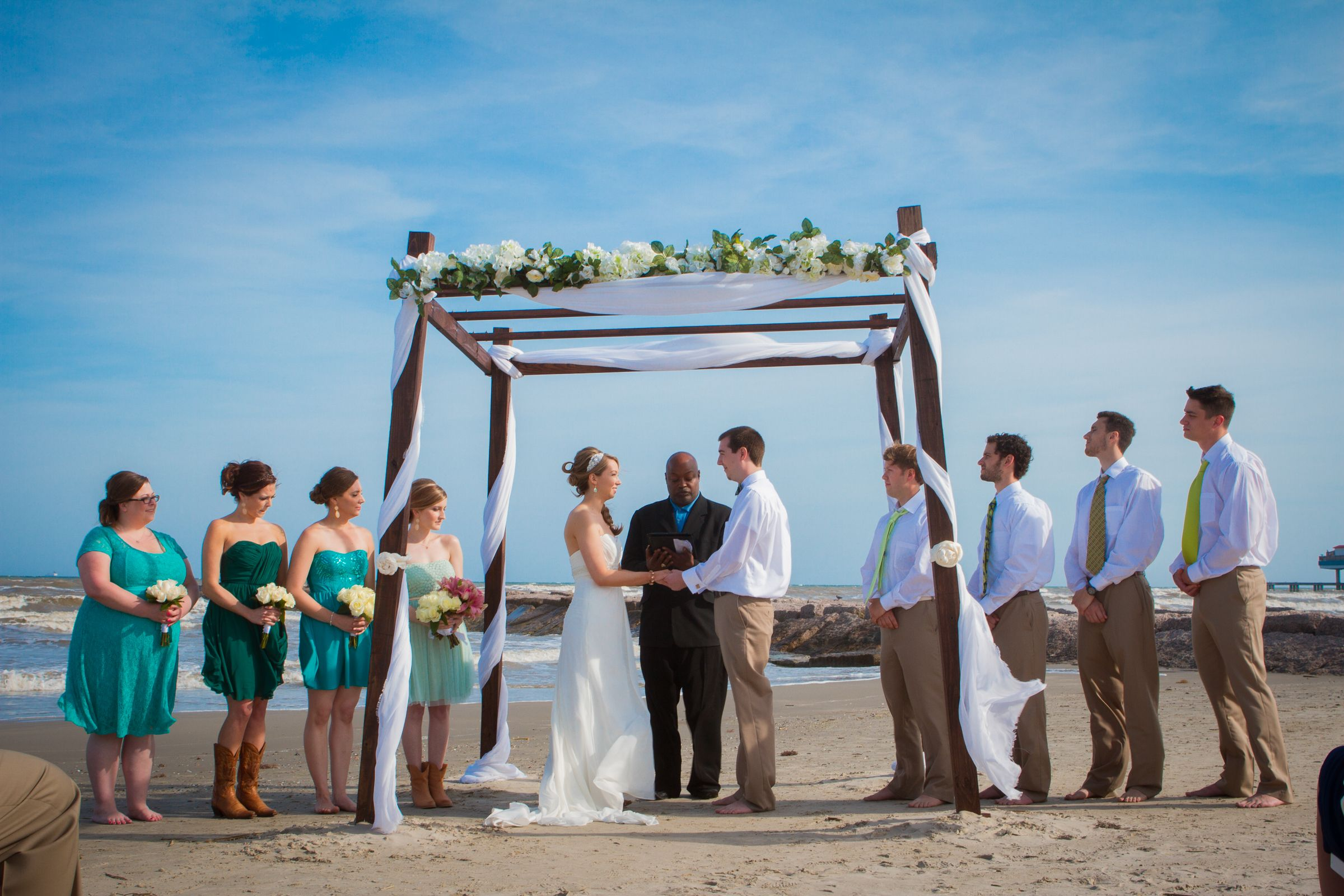 galveston beach wedding locations mini bridal