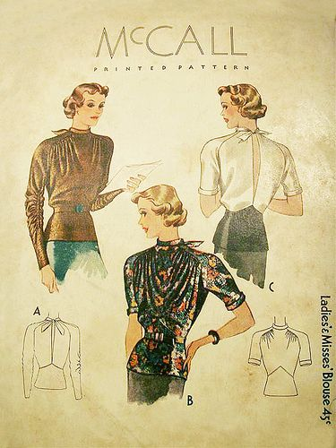 mccall 1930's blouse- gorgeous!