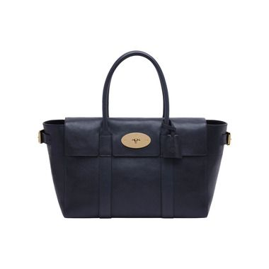 a27f004990 Mulberry - Bayswater Buckle in Midnight Blue Natural Leather | Bags ...