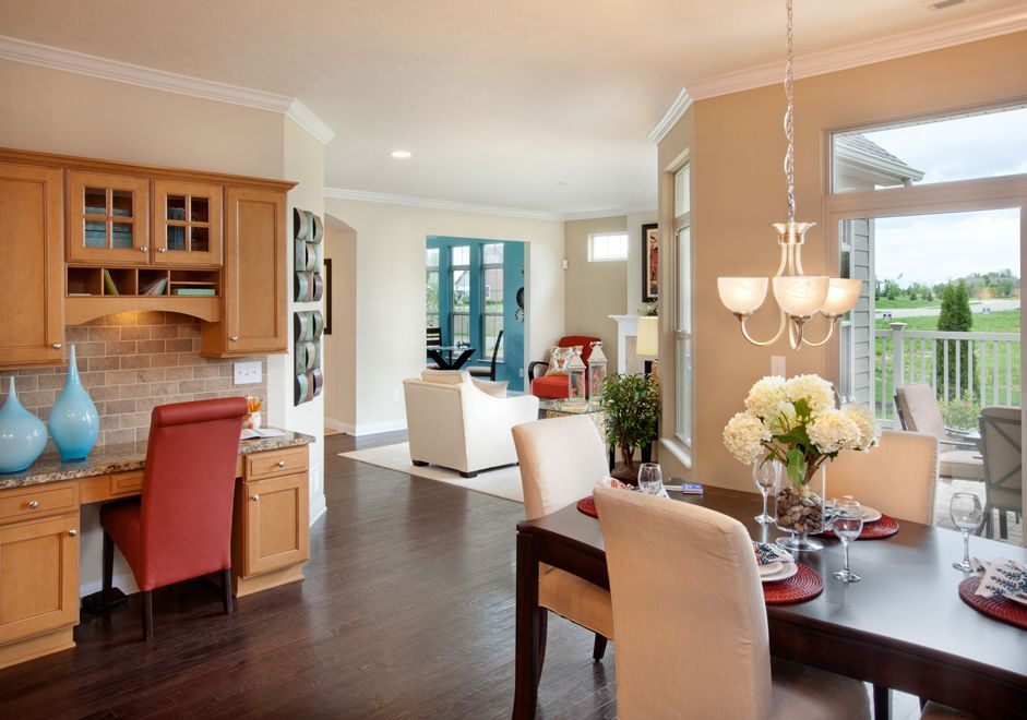 Dining Room Overlooking Living