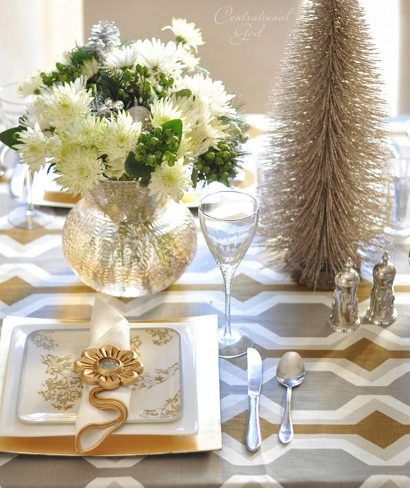 15 easy christmas decorating ideas holidays bright bold - Modern christmas table settings ideas ...
