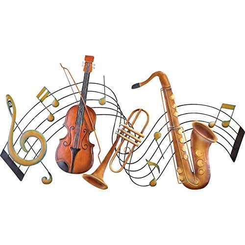 Metal Instrument And Music Notes Wall Art Check This Awesome Product By Going To The Link At The Image Music Notes Wall Art Music Notes Musical Wall Art