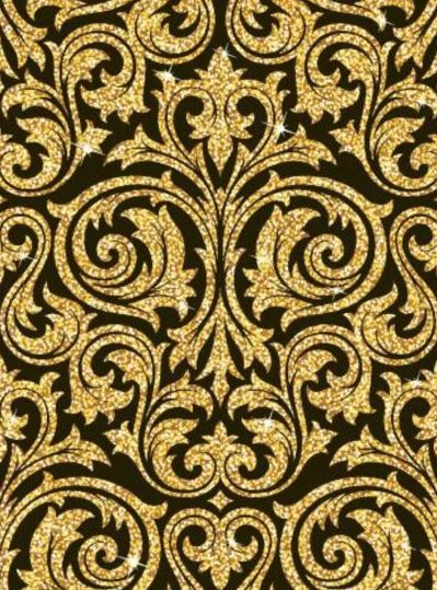 Luxury golden decor pattern vectors set 13