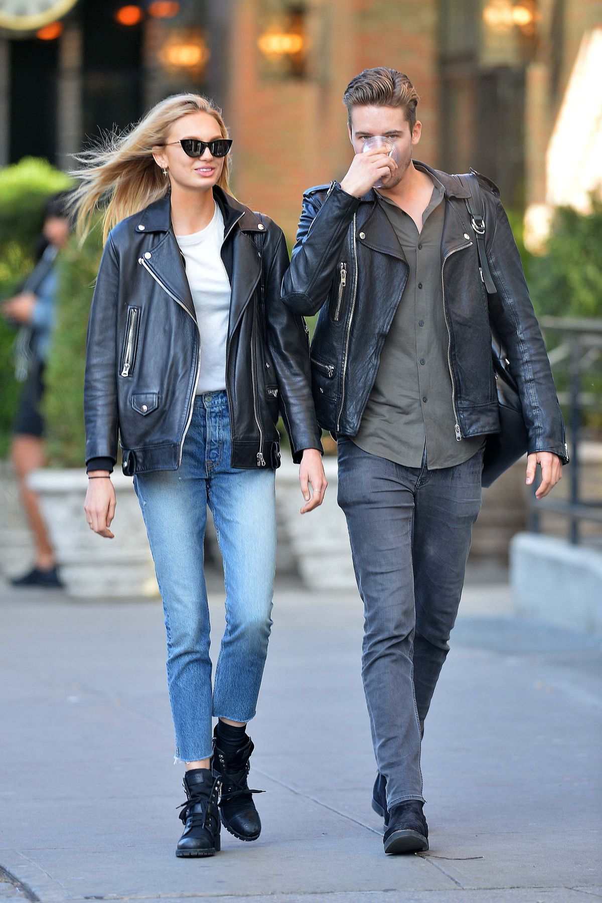 092d8504131d87 ROMEE STRIJD and Her Boyfriend Laurens Van Leeuwen Out and About in New  York 10/22/2017