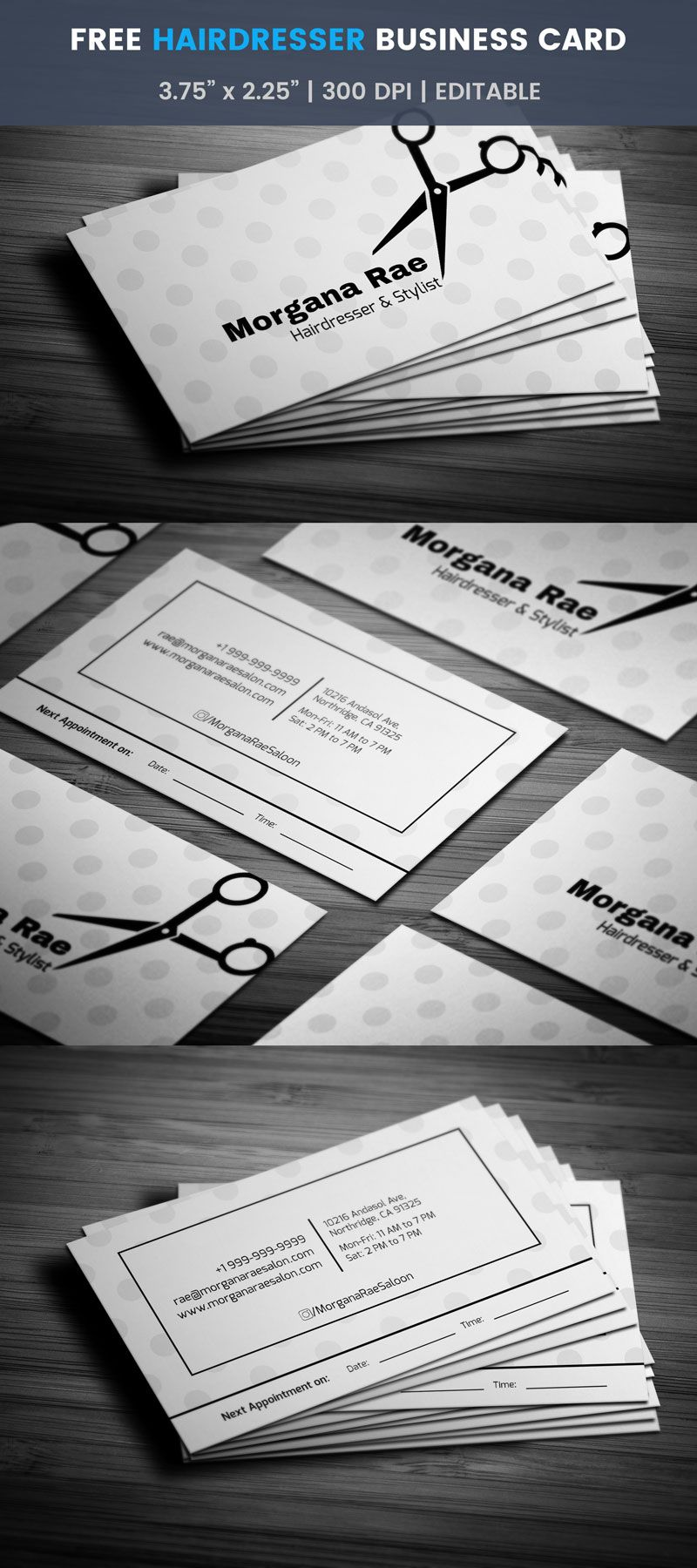 Hairdresser business card with appointment full preview free hairdresser business card with appointment full preview cheaphphosting Images