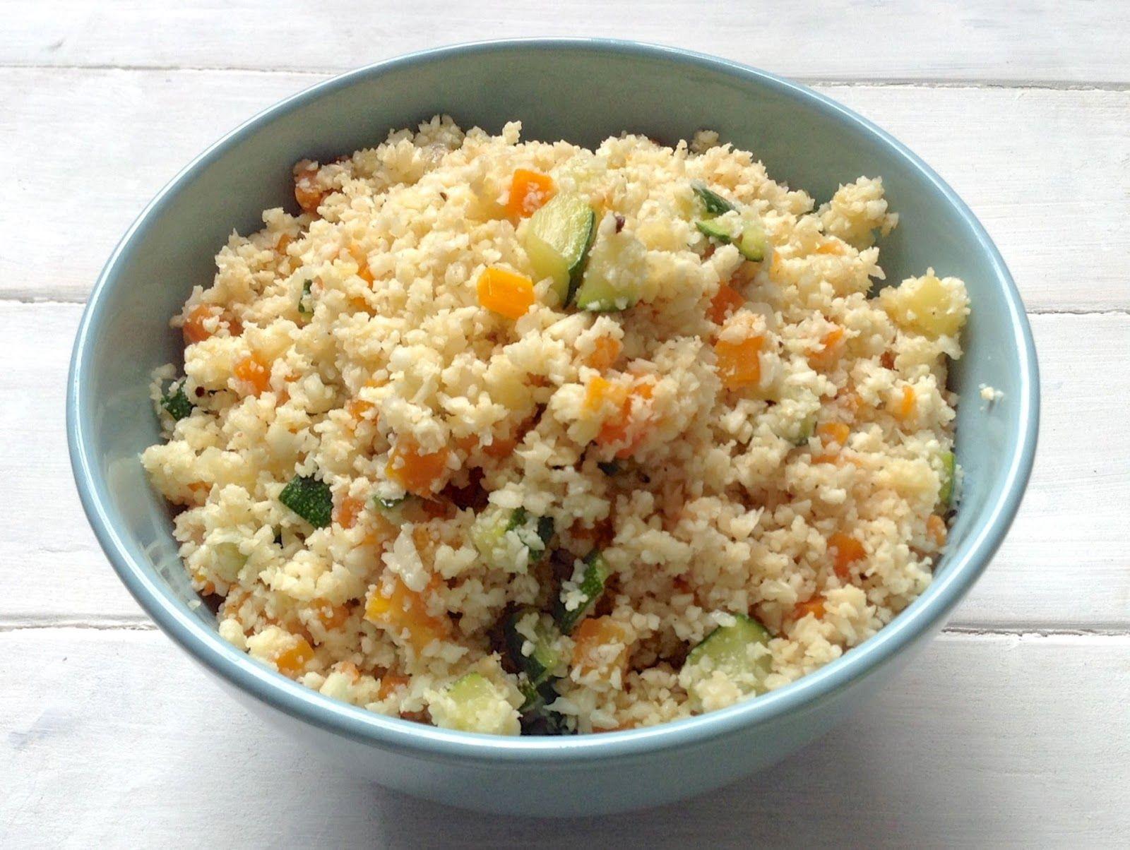 Cuscús de coliflor. Coliflower couscous. #recetassanas #recetas #dietas #healthyrecipes #recipes #food #yummy