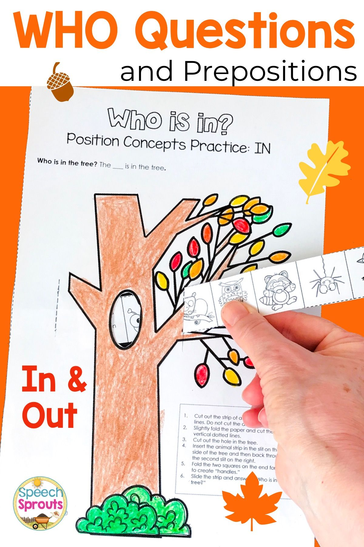 Wh Questions Interactive Book For Positional Words In And
