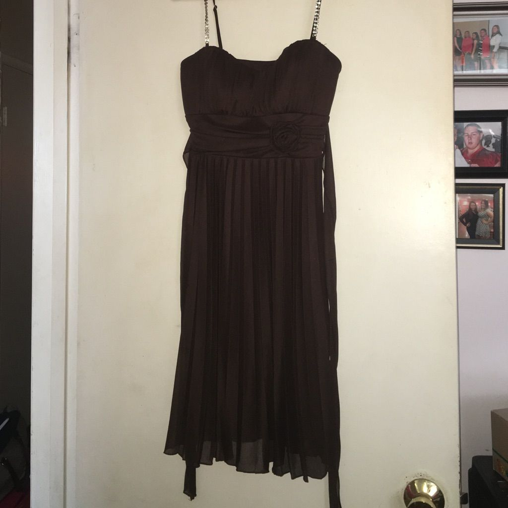 Knee length chocolate brown dress chocolate brown and products
