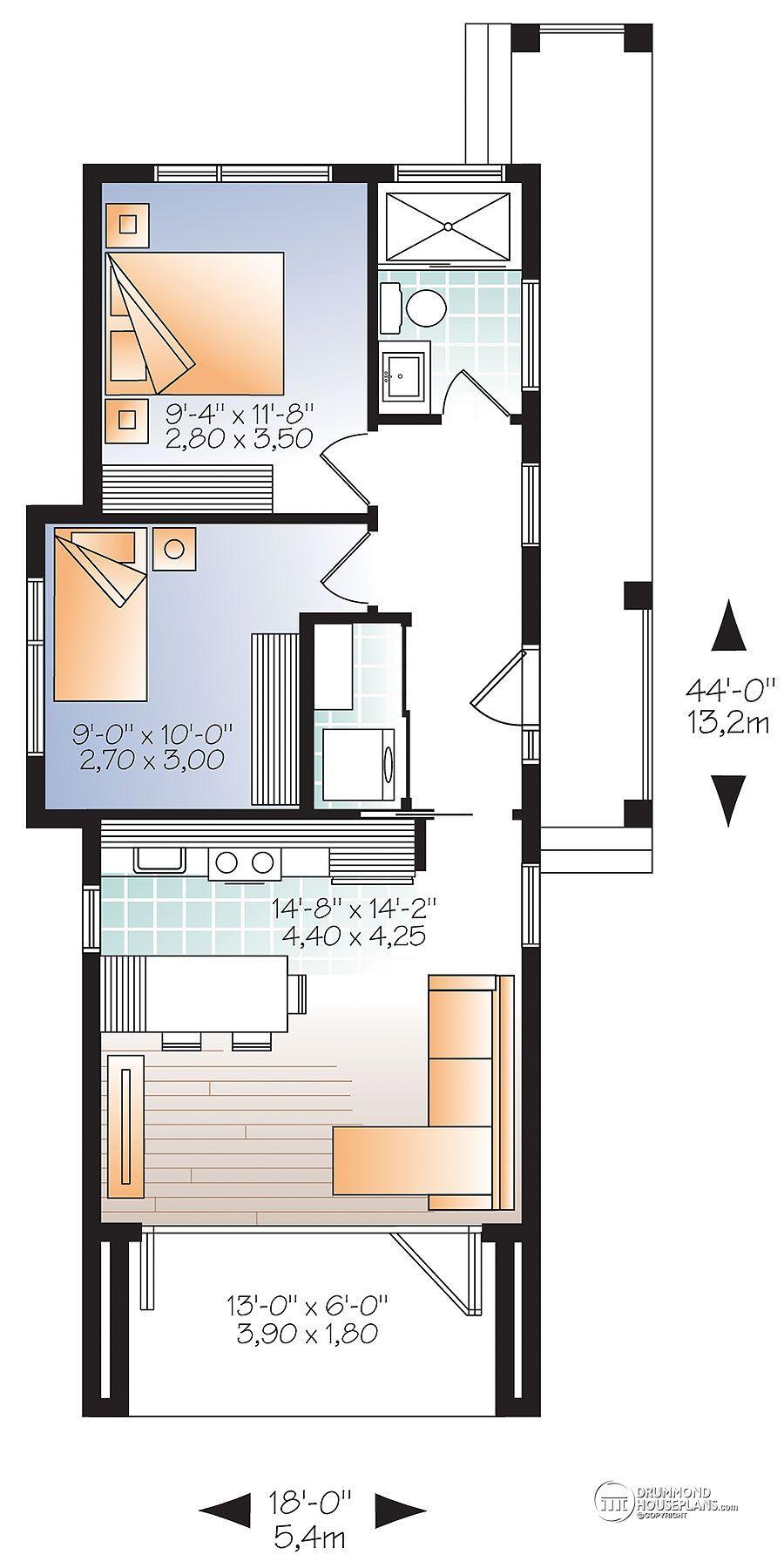 House plan W1906 detail from DrummondHousePlans.com | Planos de Casa ...