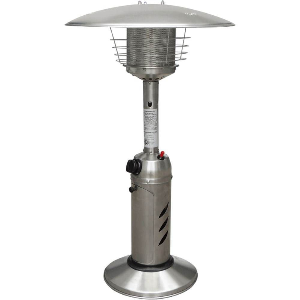 Hanover   Mini Umbrella Tabletop Patio Heater   Stainless Steel (Silver)