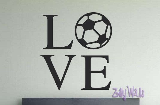 c76ec9064f8 Soccer - Sports Vinyl Wall Picture Frame Style Decal-Children room wall  art- Vinyl Decal Girls and Boys Nursery Playroom Childrens Decor