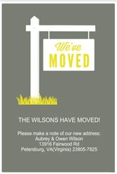 Ive moved Sign Free Printable Announcement Template Greetings