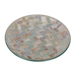 Candle Plate - Oyster Shell