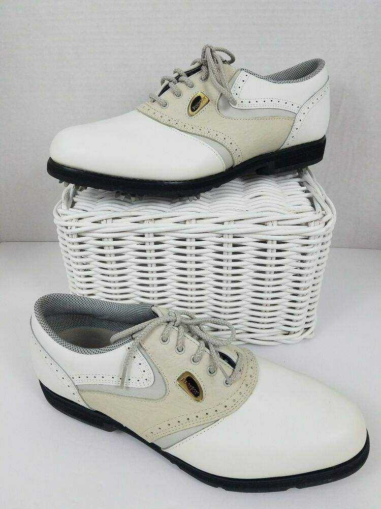c1aa22949 Women s FootJoy SoftJoy Terrains 9M Golf Shoes Style 98375 White ...