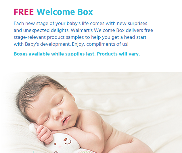 *HOT* FREE Baby Sample Box From Walmart http//www