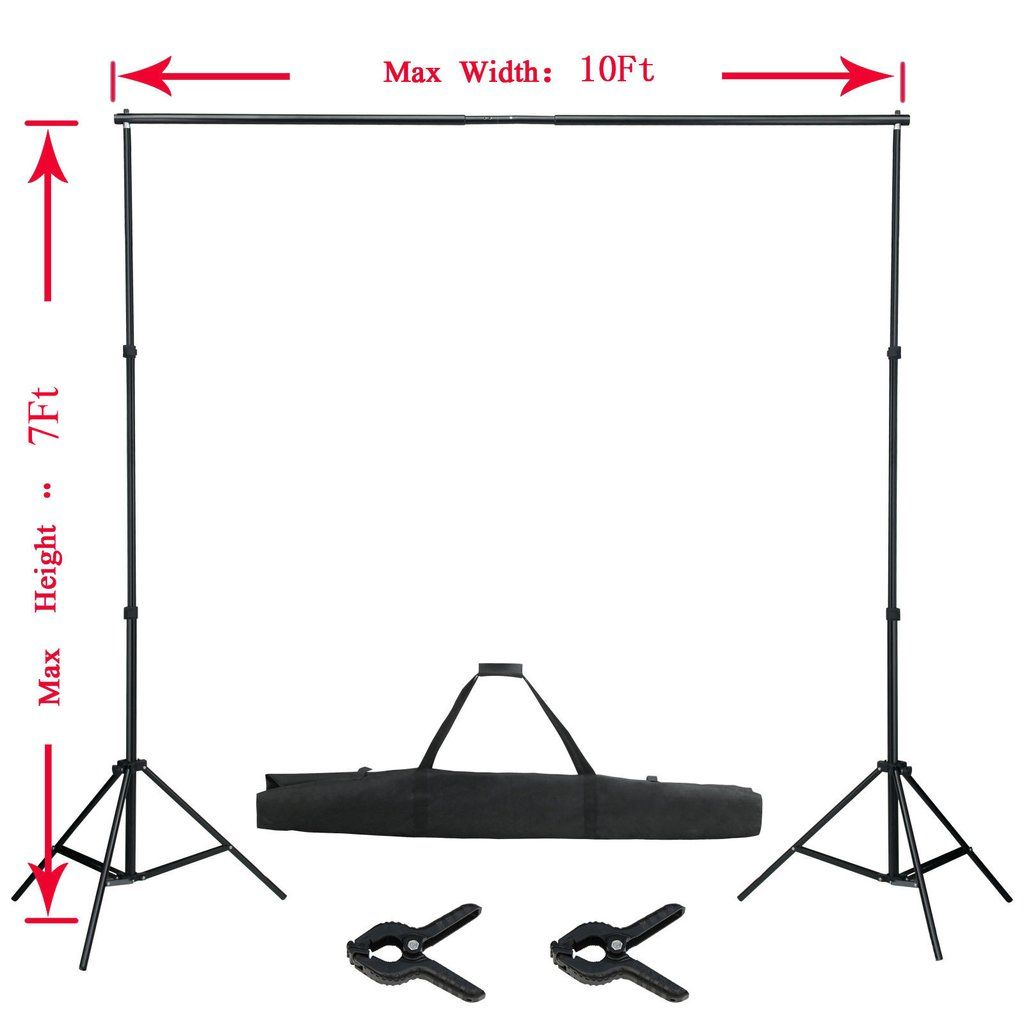 Portable Backdrop Stand W Travel Carrying Case Portable