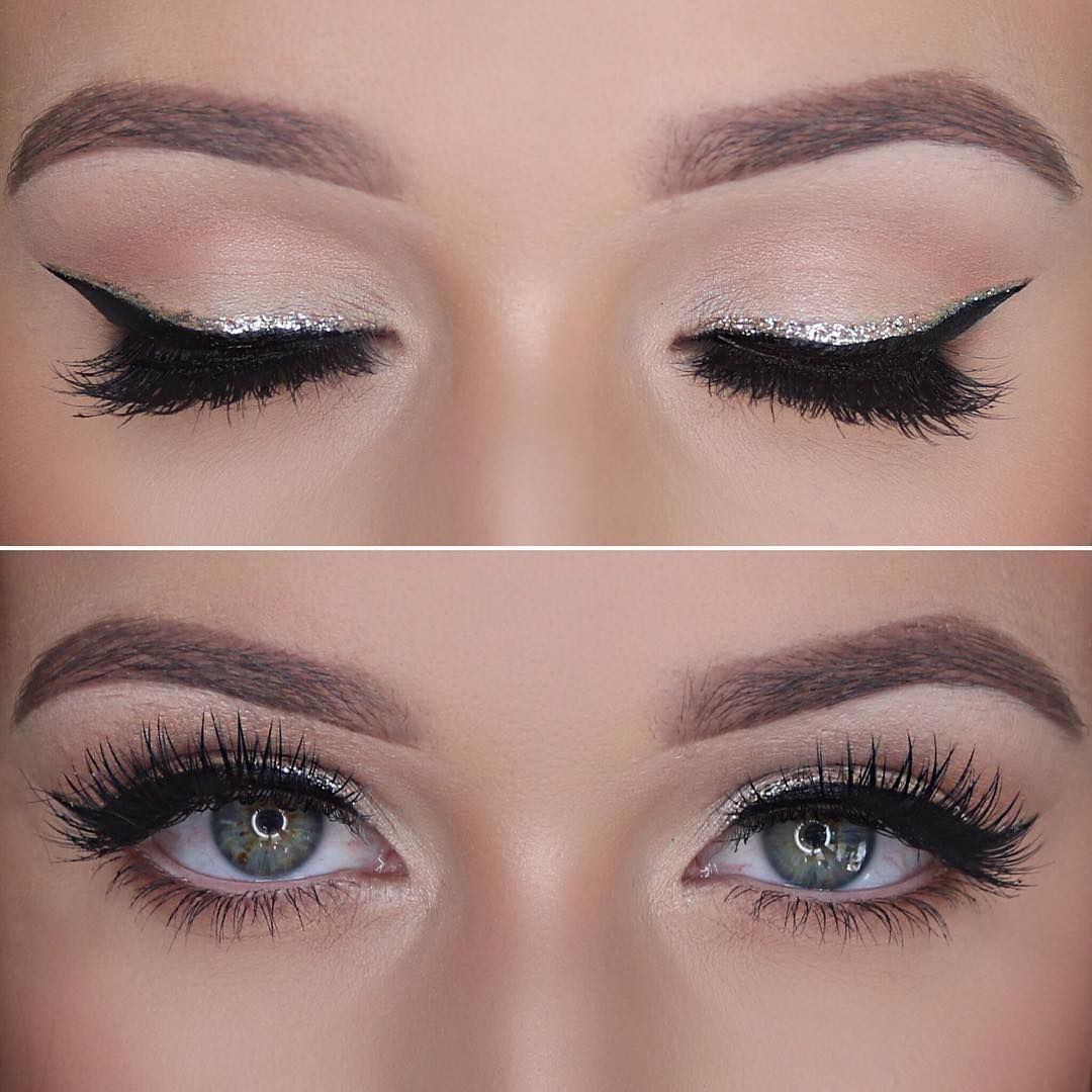 Pin by Anastasia on Стрелки in 7  Silver eyeliner, Silver