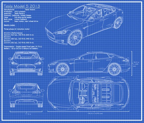 The tesla model s blueprints thing pinterest engine and cars the tesla model s blueprints malvernweather Image collections
