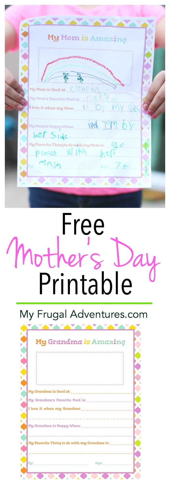 f9585bf2017 Adorable free printable Mother s Day questionnaire for Mom or for Grandma  to celebrate  MothersDayMovie in theaters 4 29. Perfect keepsake gift idea  from ...