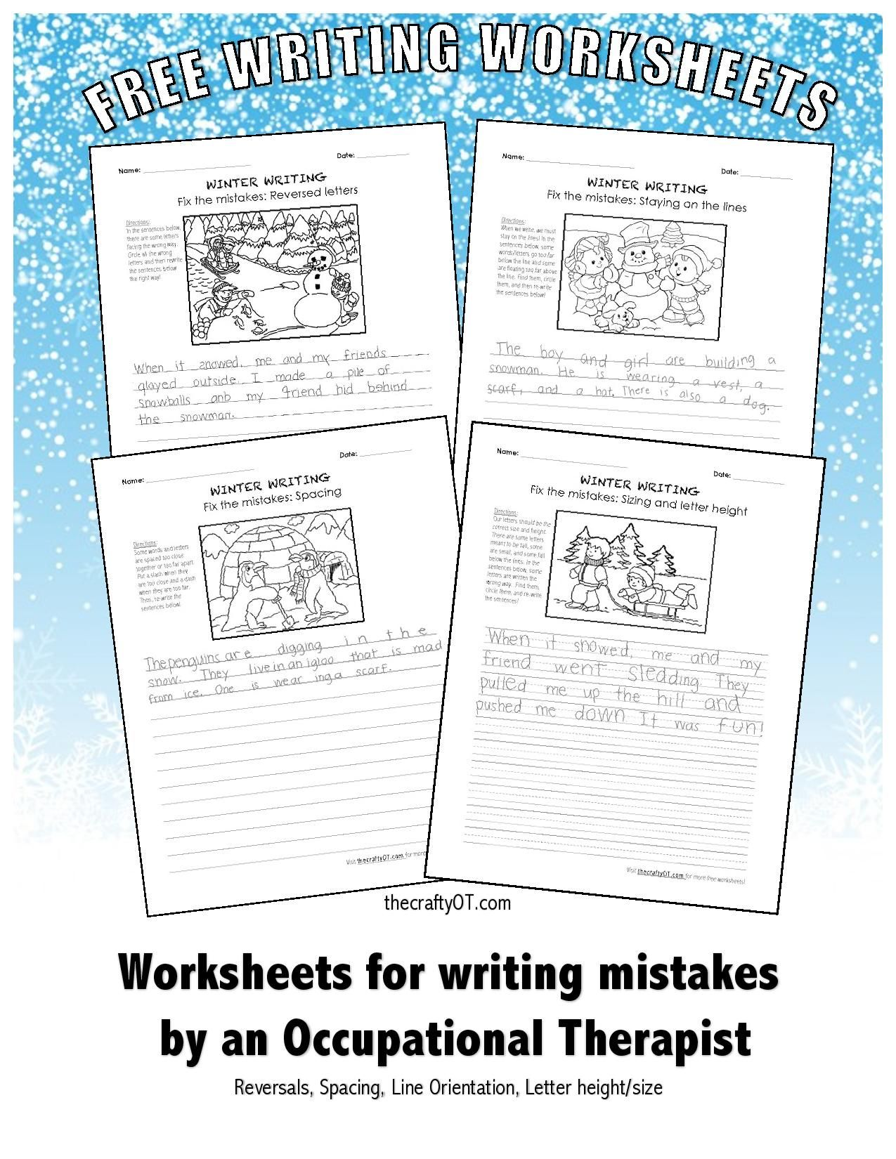 Winter Writing Fix The Mistakes